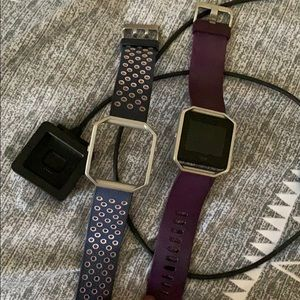 FitBit Blaze with charger and extra band